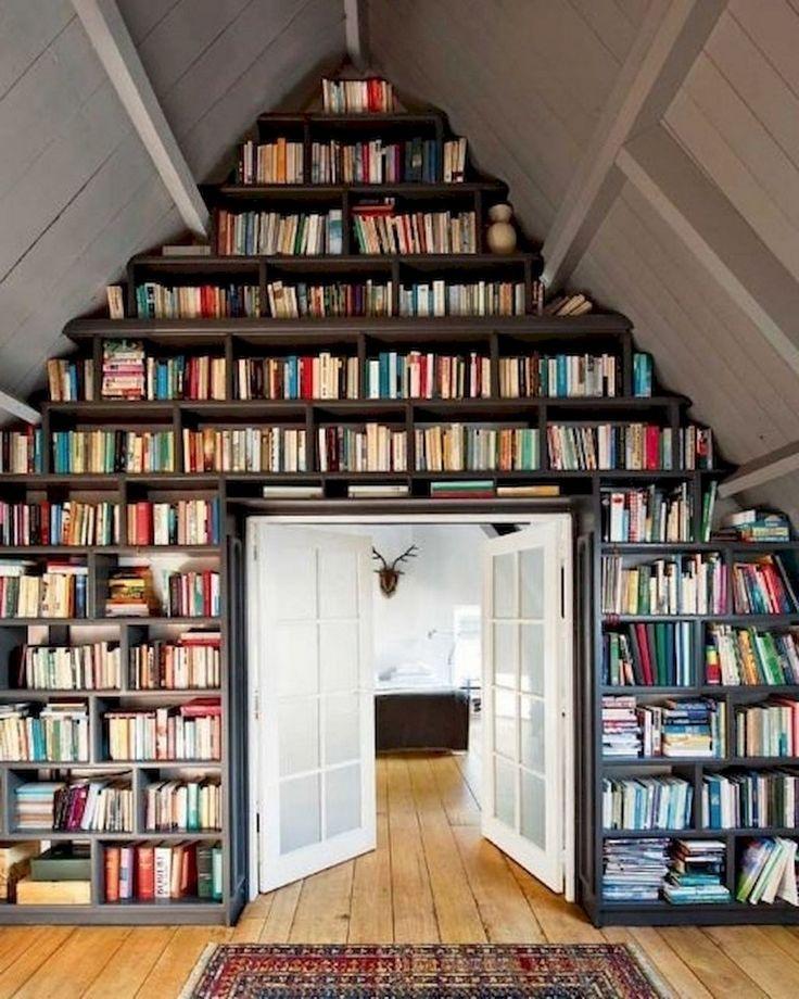 36 Fabulous Home Libraries Showcasing Window Seats: 95+ Awesome DIY Bookshelves Storage Style Ideas