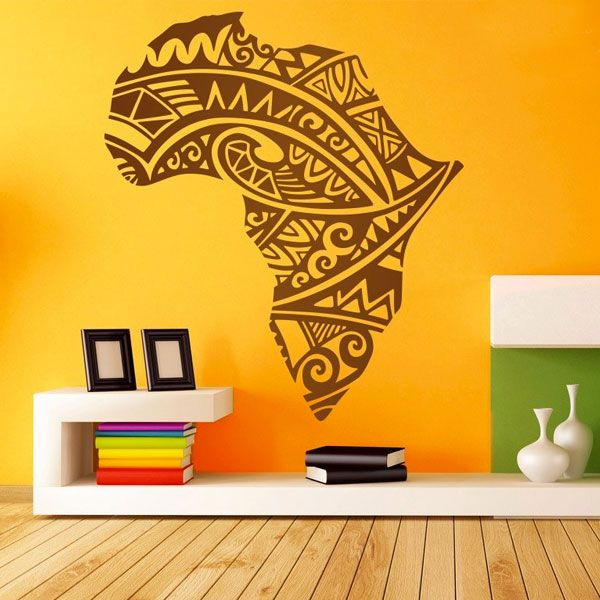 Adesivi Murali Africa per decorare una parete #mappa #politica #adesivi #murali #vinile #deco #decorazione #muro #StickersMurali