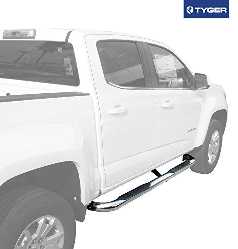TYGER 3inch Stainless Steel Side Step Nerf Bars 2pcs Fit 2015 Chevy Colorado/Gmc Canyon Crew Cab