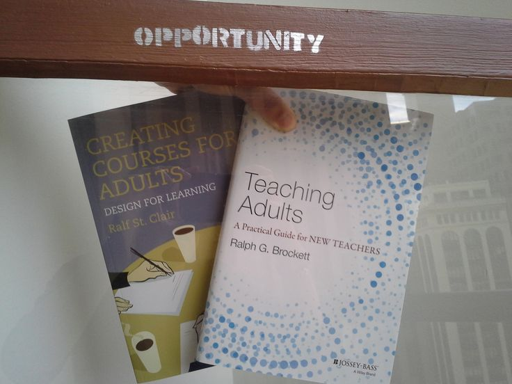 10 best adult ed images on pinterest learning onderwijs and study two fabulous new books on teaching adults pose with our window of opportunity fandeluxe Image collections