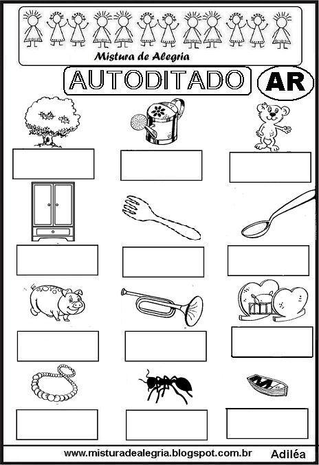 autoditado-letra-AR-alfabetizacao-imprimir-colorir.JPG (464×677)