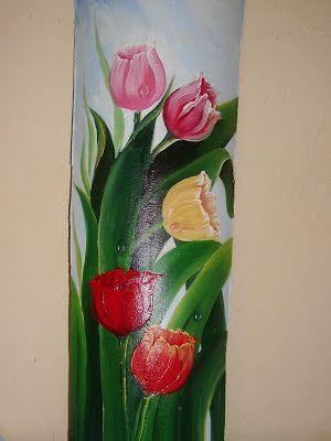 Raquel Art Pintura: Telhas Pintadas