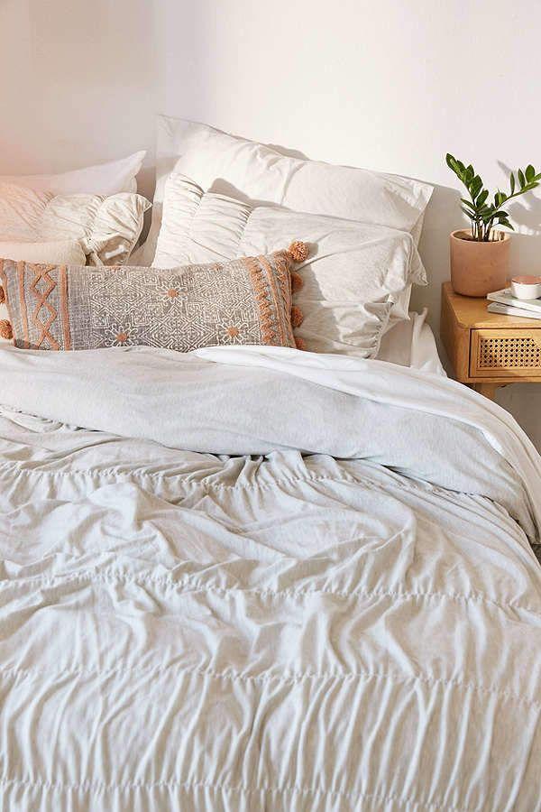 Cinched Jersey Duvet Cover Cool Dorm Rooms Dorm Room Decor