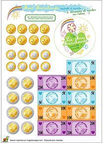 Geld voor kleuters, free download / Kit de marchande Bio pour enfants