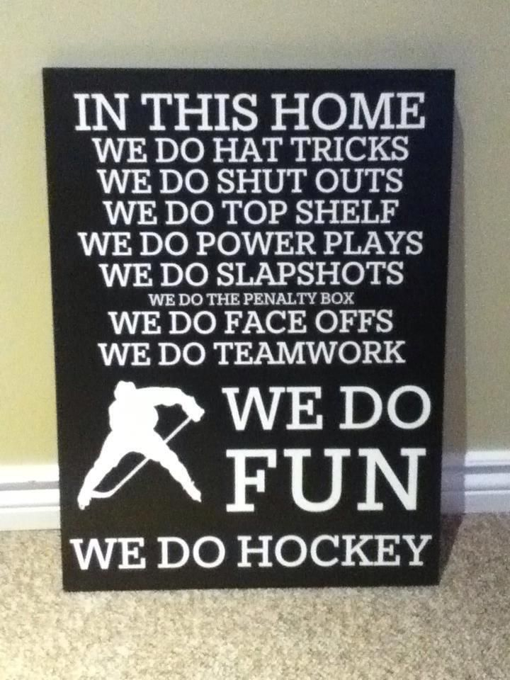 For the hockey players in my family.