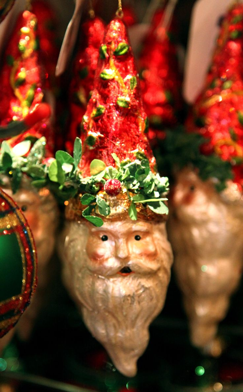 ~ Vintage Santa ornaments ~