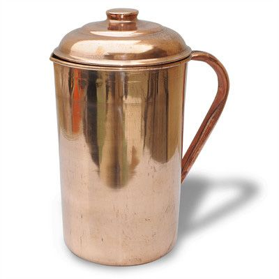 Dakshcraft Copper With Lid Handmade Self Healing Water Jug 1 L