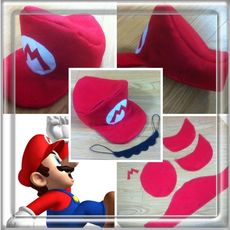 第1弾☆スーパーマリオの帽子とヒゲの作り方|帽子|ファッション小物|ハンドメイド・手芸レシピならアトリエ