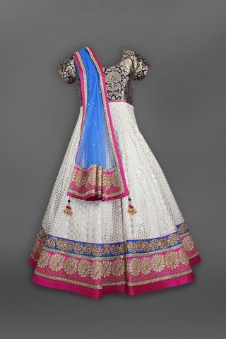 Featuring this beautiful Ivory Brocade Anarkali Set in our wide range of Suits. Grab yourself one Now!