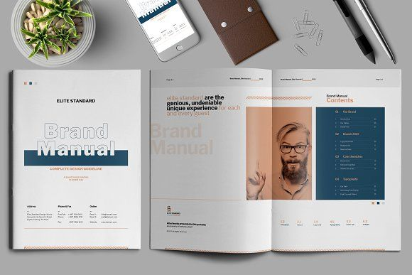 Brand Manual Template by Elite_Standard on @creativemarket