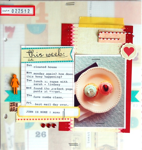 Ann-Marie Morris for Elle's Studio  I like the vellum: Scrap Inspiration, Annmari Morris, Scrapbook Kits, Elle Studios, Anne Mary Morris, Studios Calico, Paper Projects, Projects Life, Bright Colors