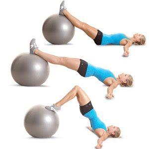 Stability ball hip-extension-leg-curl