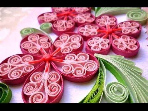 Quilling Made Easy # How to make Beautiful Flower design using Paper Art...