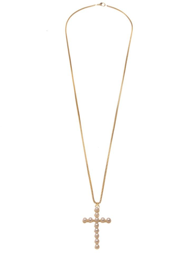 UNDISTURBED ROYALTY   Necklace with Cross - Women - Style36  #RihannaStyle36