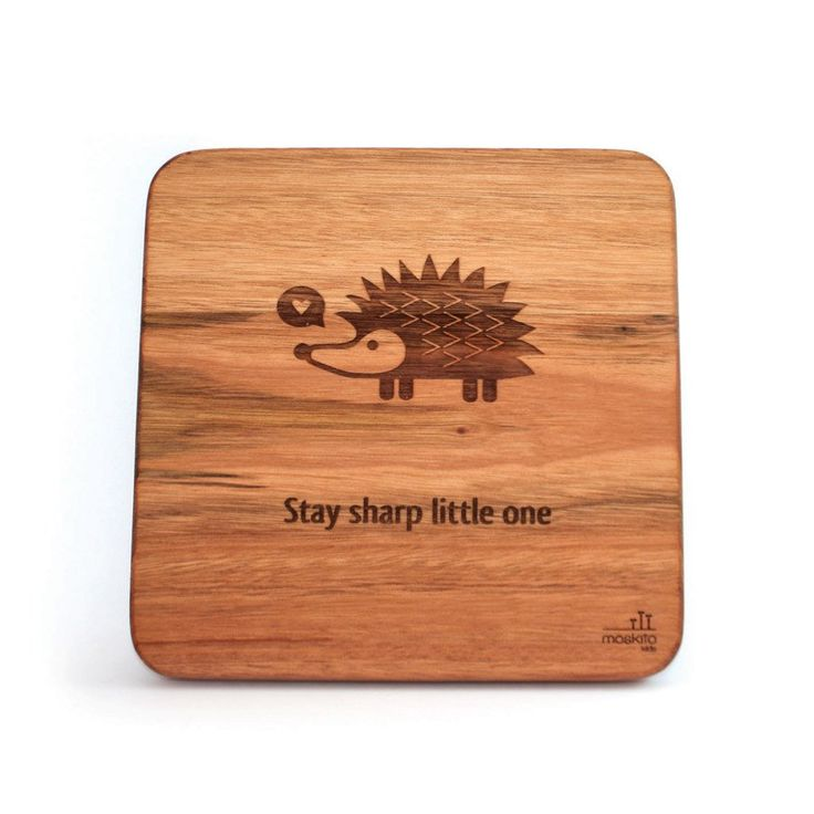 Wooden Wall Art_Hedgehog - Walls & Stickers - Baby Belle