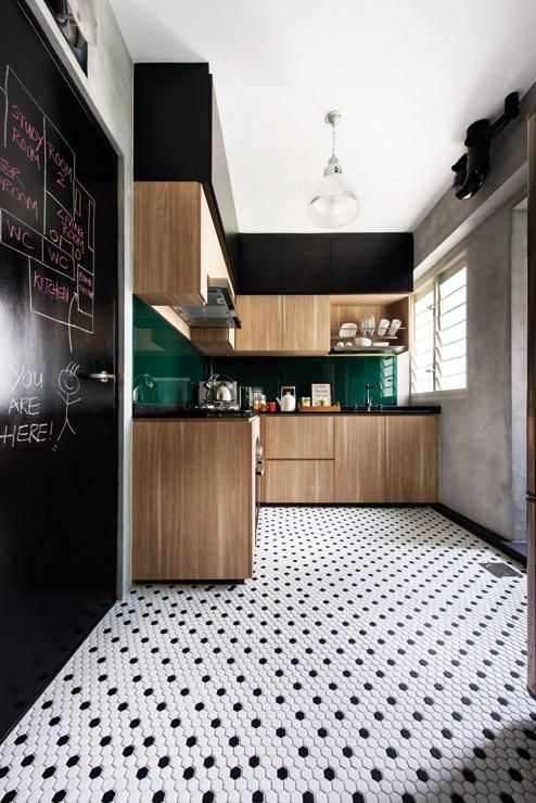 Honeycomb Tiles And Wooden Cabinets Part 59