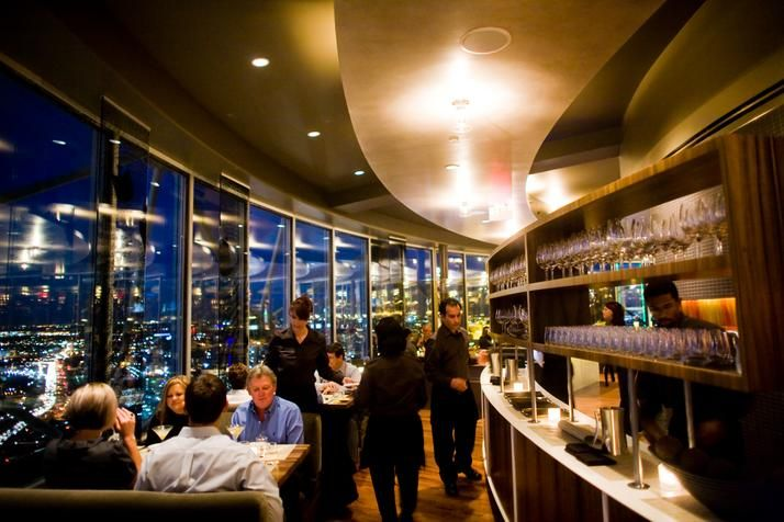 On this restaurant my husband and I got engaged.   Sixty Five restaurants at reunion tower in downtown Dallas, TX.