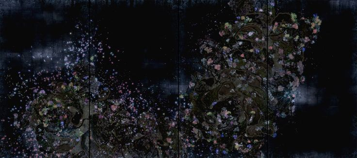 Ever Blossoming Life II – A Whole Year per Hour, Dark / 増殖する生命 II – A Whole Year per Hour, Dark | teamLab / チームラボ