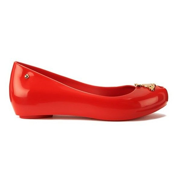 Vivienne Westwood for Melissa Women's Ultragirl 14 Orb Ballet Flats ($150) ❤ liked on Polyvore featuring shoes, flats, sapatos, red, ballet flats, ballet pumps, ballet shoes, red shoes and round toe ballet flats