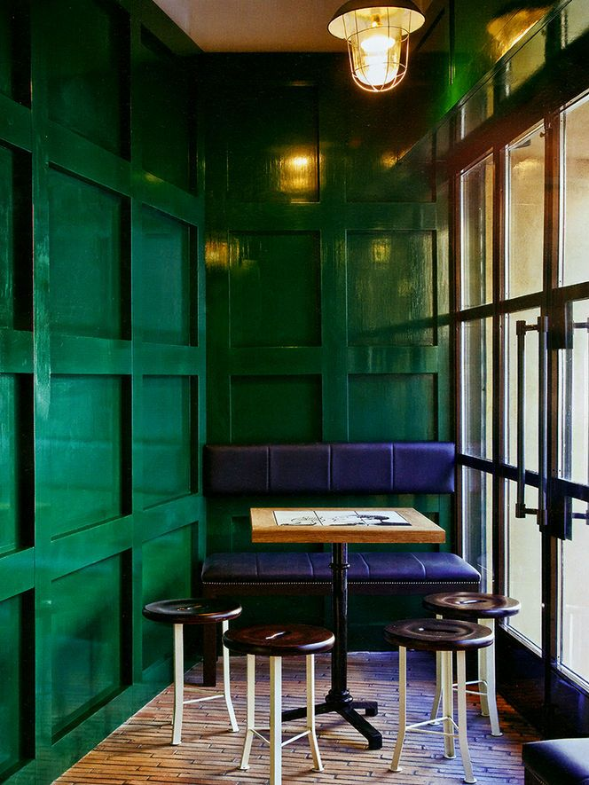 emerald lacquer walls. Architect: Roberto Liorni Photo: Livia Mucchi. Elle Decor Italia Jan/Feb 2012