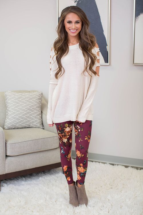 From relaxing on the couch to a day of fall fun, these leggings are just adorable!