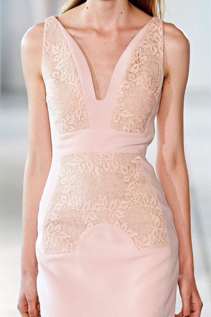 lovely: Antonioberardi, Fashion Weeks, Cocktails Dresses, Blushes Pink, Berardi Spring, Antonio Berardi, Pink Lace Dresses, Bridesmaid Gowns, Spring 2012
