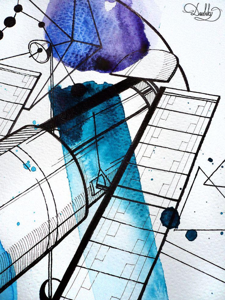 tattoo by #dushky | #art #illustration #watercolor #tattoo #design #space #hubble #telescope #orion #stars #nabula #galaxy #painting #constellation