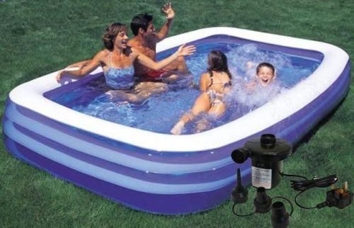 8.5 ft Large Family Paddling Pool with pump RRP £109.99 SAVE 70% NOW £32.95 delivered Amazon