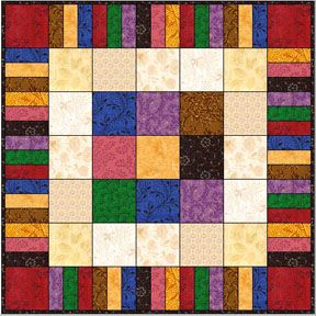 Free Beginner Quilt Patterns - picture frame a quick quilt for those times when you need a special gift in a hurry. :-)