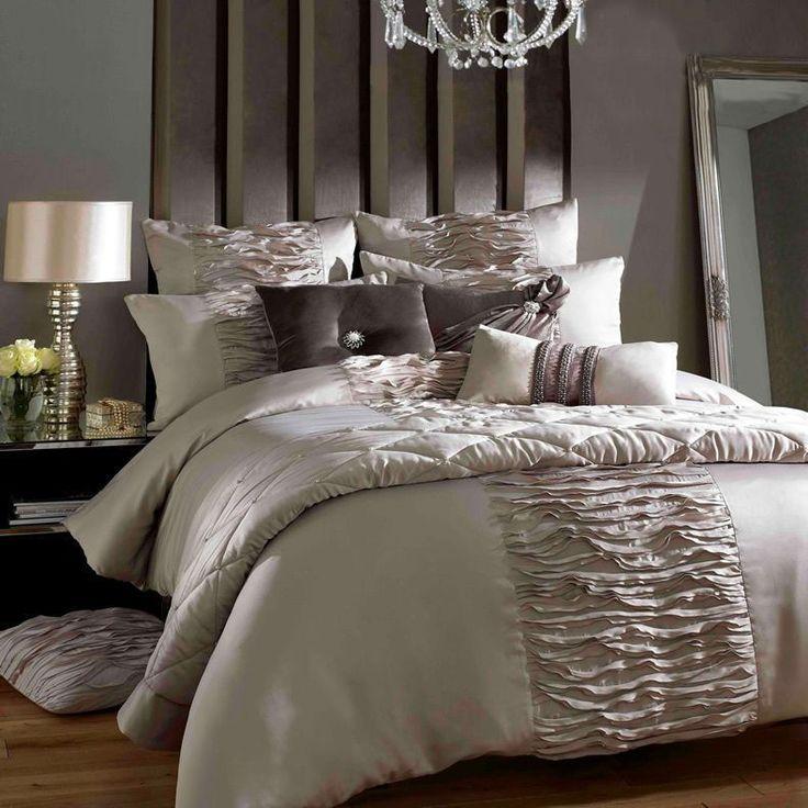luxury bed comforters set/romantic comforter set/6 pcs silk Wedding Bedclothes/European Bedding Set/king size bed-in Bedding Sets from Home & Garden on Aliexpress.com #LuxuryBeddingKing