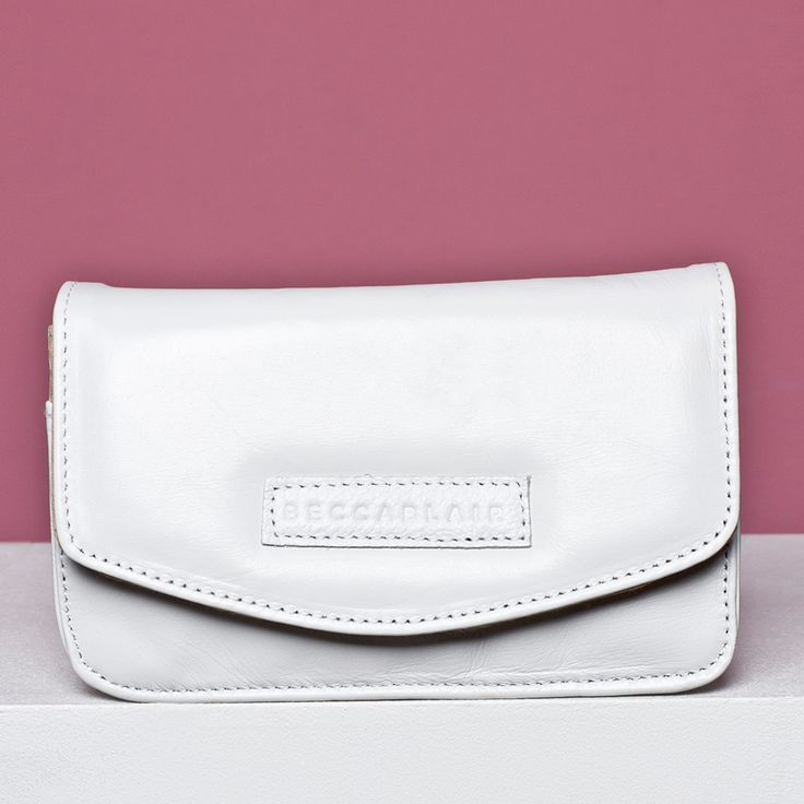 The White Leather Jake Bag - Made in South Africa.