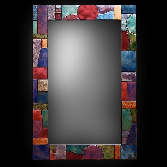 Art Deco firescale Espejo por Kim Eubank y Will Armstrong (Espejo Metal) | ingenioso Inicio
