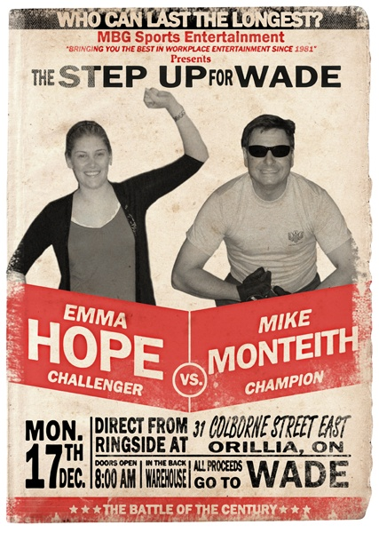 Hope vs. Monteith Charity Fundraiser Poster