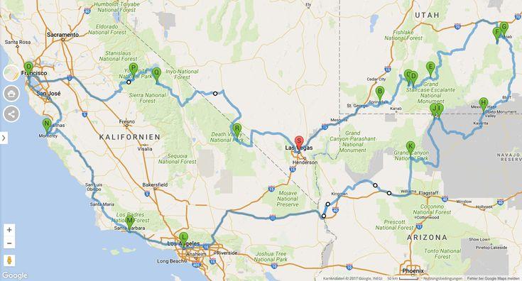 Roadtrip Route (Screenshot: Google Maps via falk Routenplaner) (scheduled via http://www.tailwindapp.com?utm_source=pinterest&utm_medium=twpin)