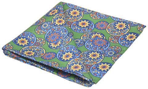 ZIAN Printed Silk Pocket Square #pocketsquare #pocket #square #handkerchief #silkhandkerchief #silksquare #silkpocketsquare #pocketsquares #handkerchiefs #madeinengland #wedding #groom #groomswear #weddingideas #idea #grooms #style #weddingstyle #outfit #inspiration #weddingguest #guest #usher #ushers #buybritish #accessories #dapper #gentleman #cravatclub #green #circles #oriental #jasmine #yellow #chinese #circular #pattern