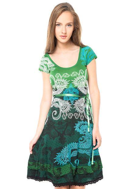 Me encanta! Miralo!  Vestido Verde Desigual  de Desigual en Dafiti