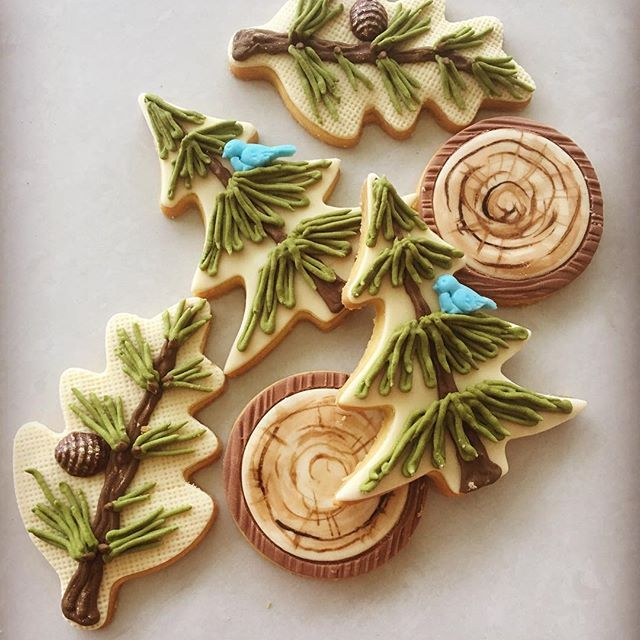 Lorena Rodriguez. Woodland cookies. Baby Shower cookies. #lorenarodriguez #decoratedcookies #woodlandcookies #babyshowercookies