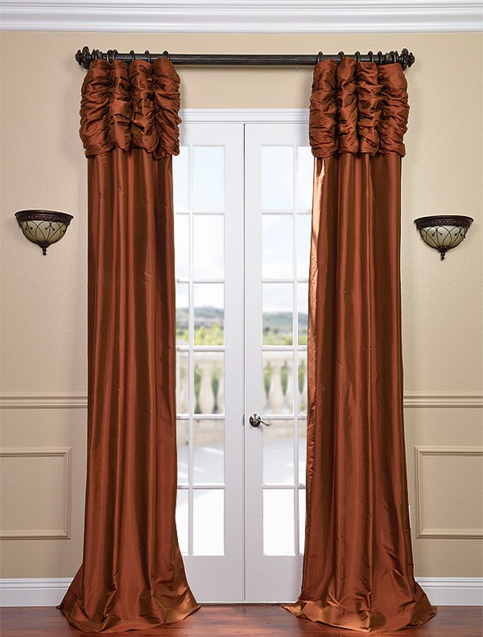 Ruched Cayenne Thai Silk Curtain Must Have For My Dining Room Decor Ideas Pinterest