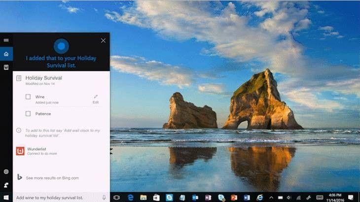 Cortana, el asistente personal de Microsoft, ahora con soporte para listas y para Wunderlist