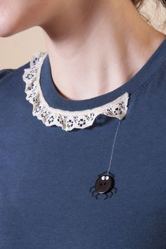 Partial lace with button spider - fun with tees!