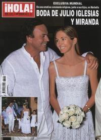 ESTA SEMANA EN  HOLA  08/09/10 Exclusiva mundial: Boda de Julio Iglesias y Miranda en una emotiva ceremonia religiosa, junto a sus hijos, en Marbella