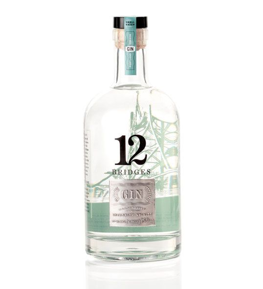 12 Bridges Gin designed by Jared Milam (If you're wondering that's the Hawthorne Bridge on the bottle/Portland, Oregon)