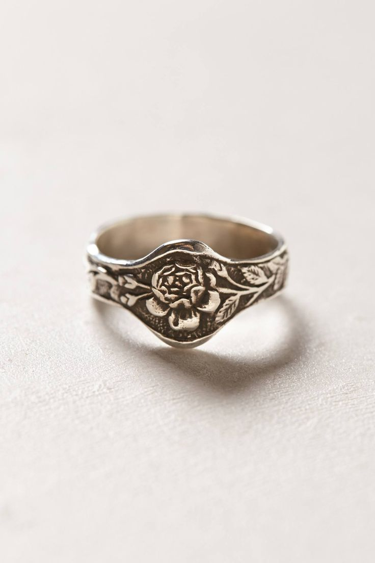 SOOO pretty. Engraved Rose Ring - anthropologie.com
