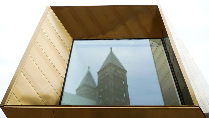 mässing fasad och tak