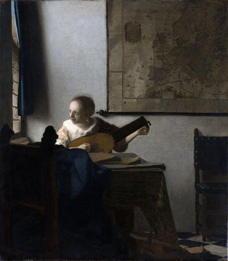 Johannes Vermeer - De luitspeelster (1663)