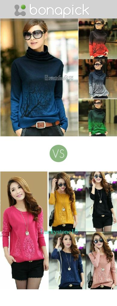 Bright sweater to express your personality. (women sweater)