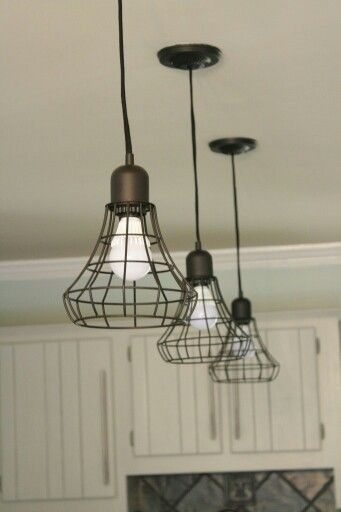 Industrial Farmhouse Styled Pendant Lights !