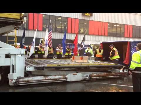 Behind The Scenes As A Fallen Warrior Comes Home, Delta Airlines Honor Guard - Something most people do not see, as it happens behind the scenes. Delta honors our Fallen as they come home with their own Honor Guard, as the Fallen are transferred from the plane. Thank you Delta for the respect you show to our Fallen Heroes.