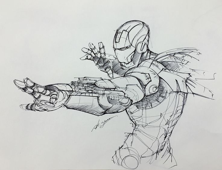 Ironman rough sketch on Behance
