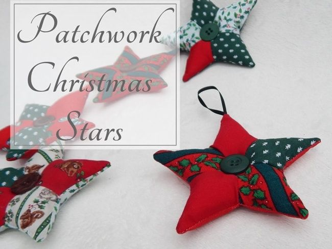 Patchwork Christmas Stars - great scrap-busting project!